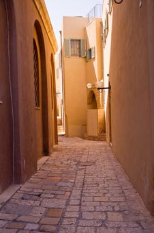 Details Of Architecture Streets Of Jaffa. Stock Photos