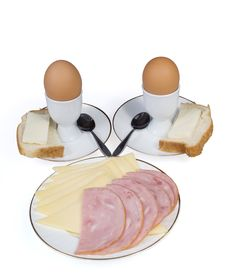 Free Eggs, Cheese And Sausage Royalty Free Stock Photos - 16022538