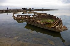 Free Rusty Skeleton Of A Ship Royalty Free Stock Photo - 16023295