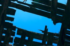 Free Sky And Wooden Roof Stock Photo - 16023310