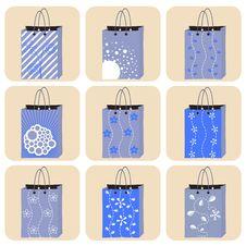 Free Shopping Bag Set Royalty Free Stock Images - 16023729