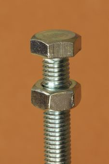 Free Single Nut And Bolt Royalty Free Stock Photos - 16024018