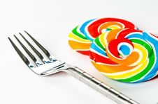 Free Fork With Lollipops Stock Photos - 16024603