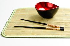 Free Chop Sticks And A Bowl Royalty Free Stock Photography - 16024647