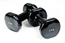 Free Two Exercising Weights Stock Photos - 16024733