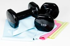 Free Two Exercising Weights Stock Images - 16024754