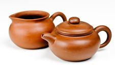 Free Clay Tea Pots Royalty Free Stock Photo - 16024795