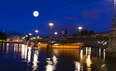 Night Scene Of The Stockholm Royalty Free Stock Image