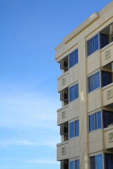 Multistoried Modern Living Block Of Flats Royalty Free Stock Photos