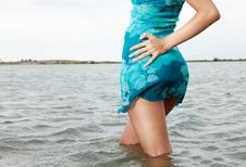 Free Posing In Water Royalty Free Stock Photography - 16026607