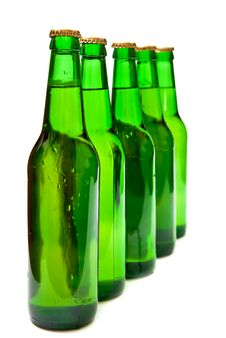 Free Row From Beers Bottles Stock Photo - 16027220