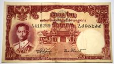 Free Older Thai Banknote 100 Baht Stock Photo - 16027770