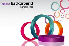 Free Colorful Background With Circles Stock Photography - 16028142