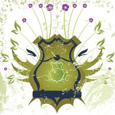 Retro Shield Grunge Design