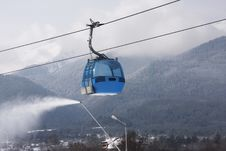 Cable Car Ski Lift Royalty Free Stock Photo