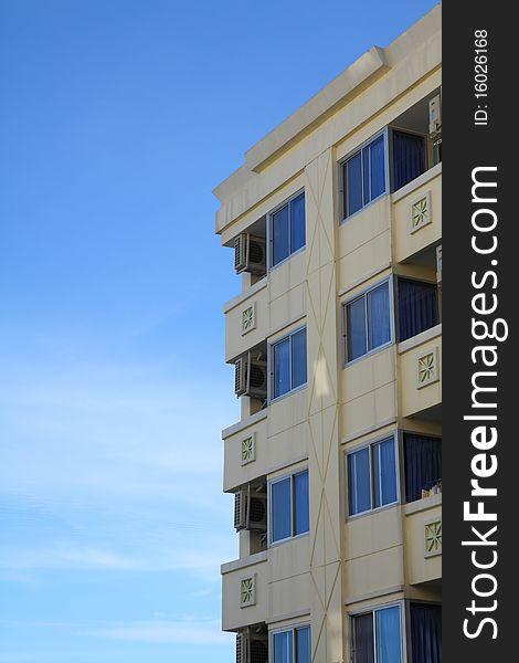 Multistoried modern living block of flats