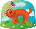 Free Dog Playing With Butterfly Stock Photography - 16030362