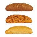 Free Three Rolls Of Bread Stock Image - 16033231