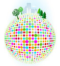 Free City On Colorful Dots Stock Image - 16035121