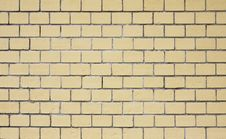 Yellow Brick Wall Texture Royalty Free Stock Photo
