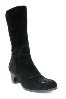 Black Female Boots Royalty Free Stock Photography
