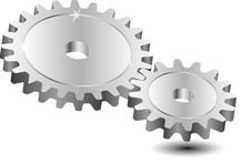 Vector Illustration Of Gears Royalty Free Stock Image