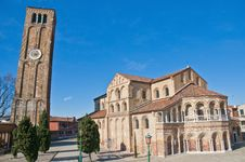 Free Santa Maria E Donato Church At Murano, Italy Stock Image - 16031221