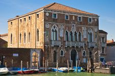 Free Mula Palace At Murano Island, Italy Stock Photography - 16031232