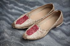 Free Punjabi Wedding Shoes Stock Images - 16031354