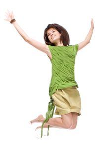 Free Jumping Girl Stock Photo - 16031510