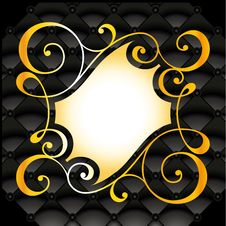 Free Symmetrical Golden Floral Pattern Stock Image - 16031541