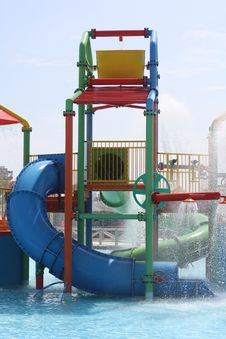 Free Slide In Aquapark Royalty Free Stock Photos - 16032048