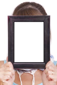 Empty Frame For Face Royalty Free Stock Images