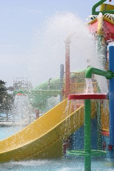 Free Slide In Aquapark Royalty Free Stock Image - 16032236