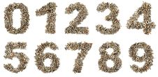 Free Numbers Made Of Bolts Royalty Free Stock Photos - 16032368