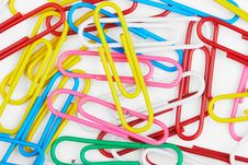 Free Multi-coloured Paper Clips Stock Photo - 16033130