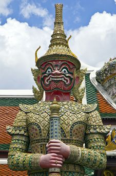 Giant In Wat Phra Kaew. Stock Images