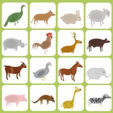 Free Animal Icons Stock Images - 16034794