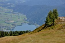 View From Gerlitzen Summit To Lake Ossiach Stock Image