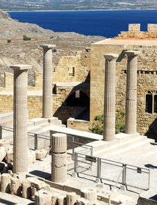 Free Ancient Acropolis In Rhodes Stock Photography - 16035172