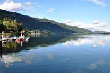 Free Panoramic View To Lake Ossiach, Austria Royalty Free Stock Images - 16035289
