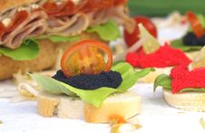 Free Caviar Sandwiches Stock Photo - 16035570
