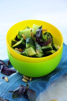 Free Cucumber Salad Royalty Free Stock Photography - 16036307