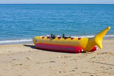 Free Banana Boat As Shark Royalty Free Stock Photos - 16036378