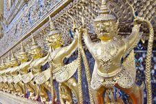 Garuda Golden Statue In Bangkok Stock Image