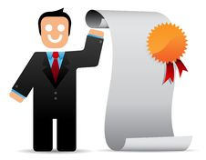 Businessman Holding A List Royalty Free Stock Image