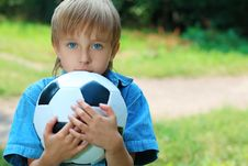 Free Boy With A Ball Stock Photography - 16036962
