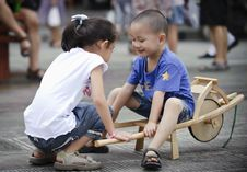 Free Sister And Brother Play Happy Play Stock Photo - 16037090