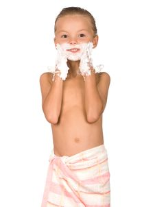 Free Boy Shaving Royalty Free Stock Photos - 16037468