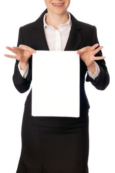 Blank Paper Stock Photography